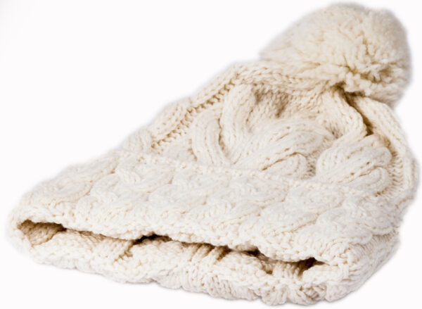 Super Soft Merino Cabled Hat - Natural