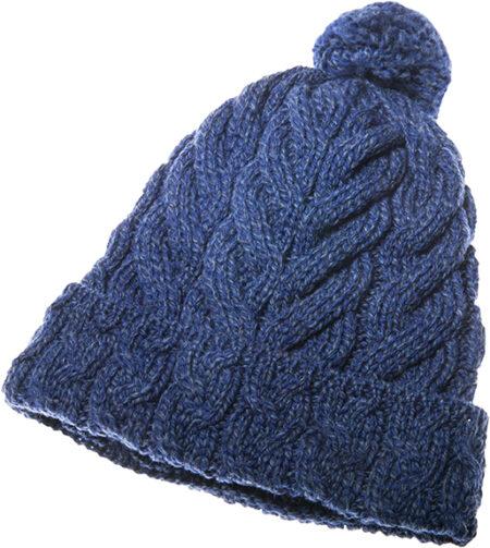 Super Soft Merino Cabled Hat - Ink