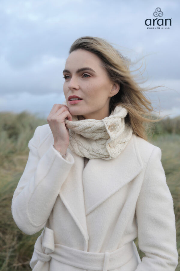 Super Soft Merino Snood - Natural White