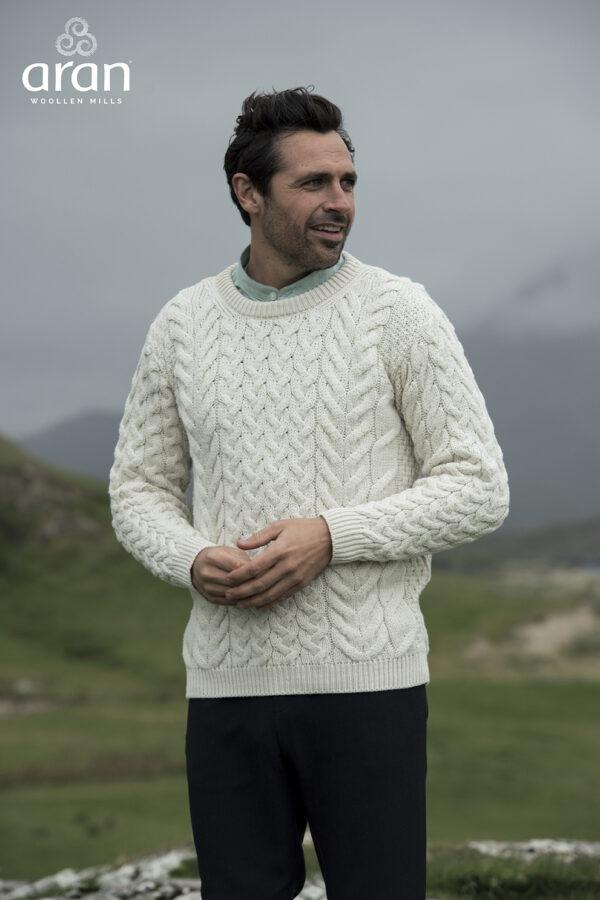 Natural Super Soft Merino Aran Sweater