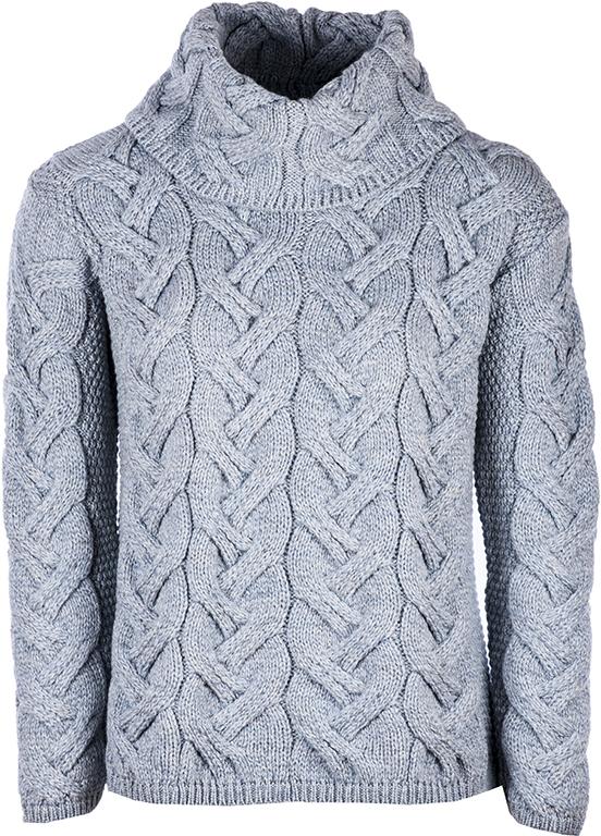 Super Soft Merino Cable Sweater - Ocean Grey