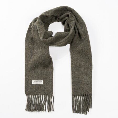Solid Loden Medium Lambswool Scarf
