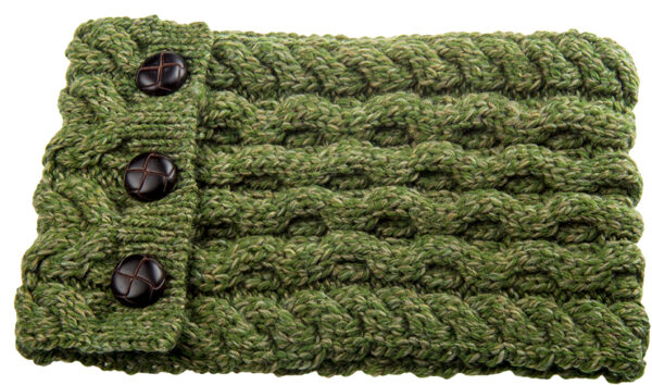 Child's Button Up Cabled Cowl - Forest
