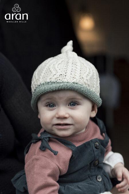 Baby's Super Soft Merino Hat - Sea Green