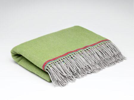 Parrot Green Children's Woollen Blanket