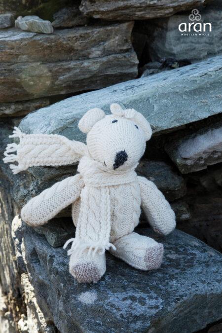 Handknit Aran Teddy Bear