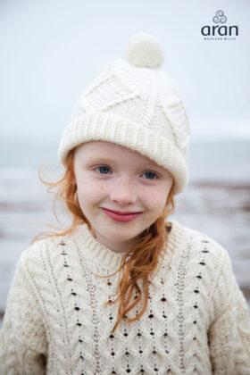 Child's Handknit Aran Hat