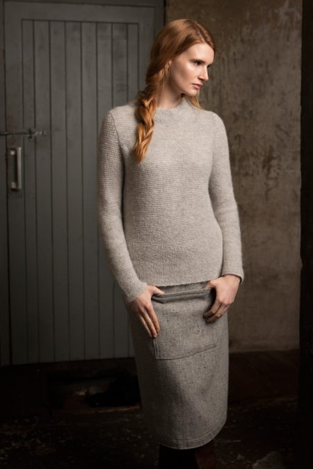 Cloud Links Stitch Mock Neck Sweater