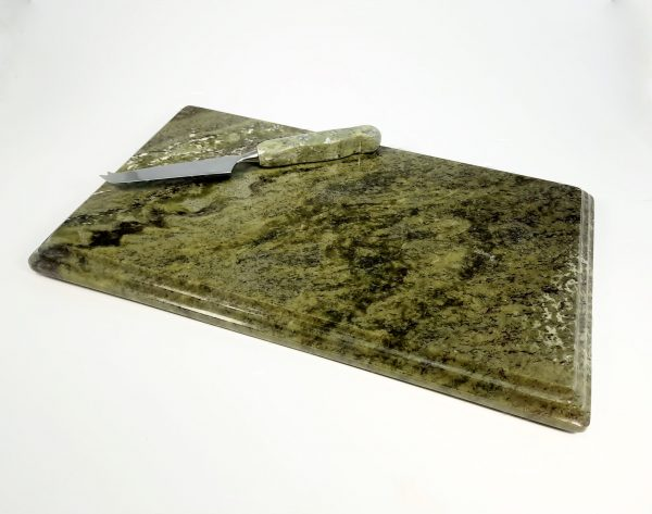 Connemara Marble Cheeseboard & Knife Set – Large