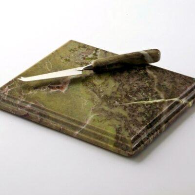 Connemara Marble Cheeseboard & Knife Set – Medium