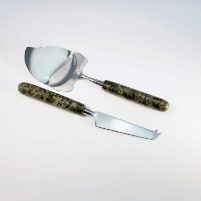 Connemara Marble Cheese Knife & Slicer Set